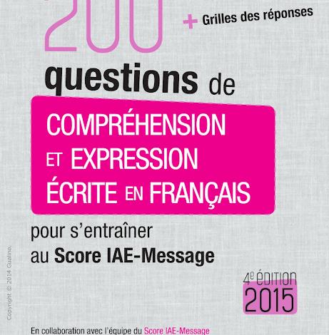200 questions de compréhension et expression écrite en français