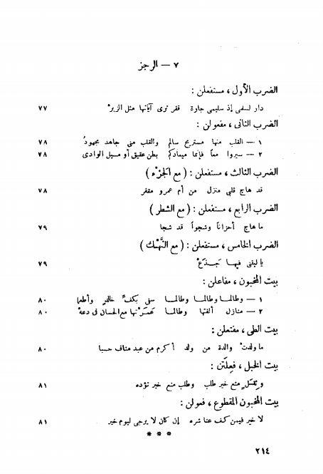 كتاب الكافي في العروض والقوافي PDF تحقيق الحساني حسن عبد الله