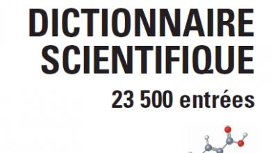 Dictionnaire scientifique Anglais Français