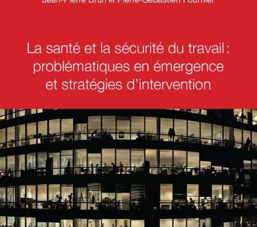 La santé et la sécurité du travail Problématiques en émergence et stratégies d'intervention