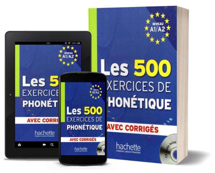 Télécharger Les 500 Exercices de phonétique PDF + CD audio MP3