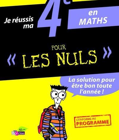 Maths 4ème pour les nuls en PDF Gratuit