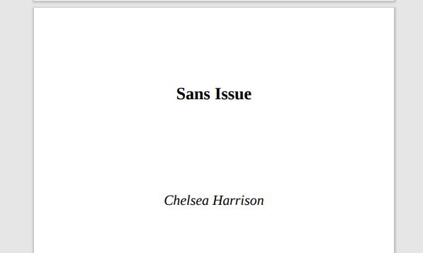 Roman 2017: Sans issue de Chelsea Harrison PDF Gratuit