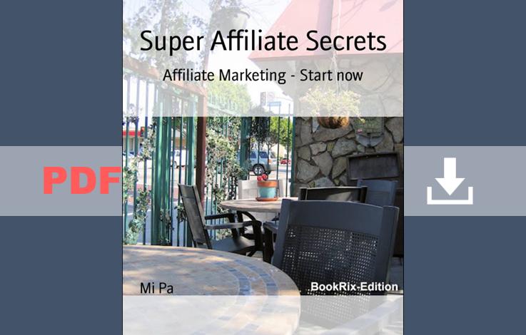 Super affiliate secrets PDF book for free