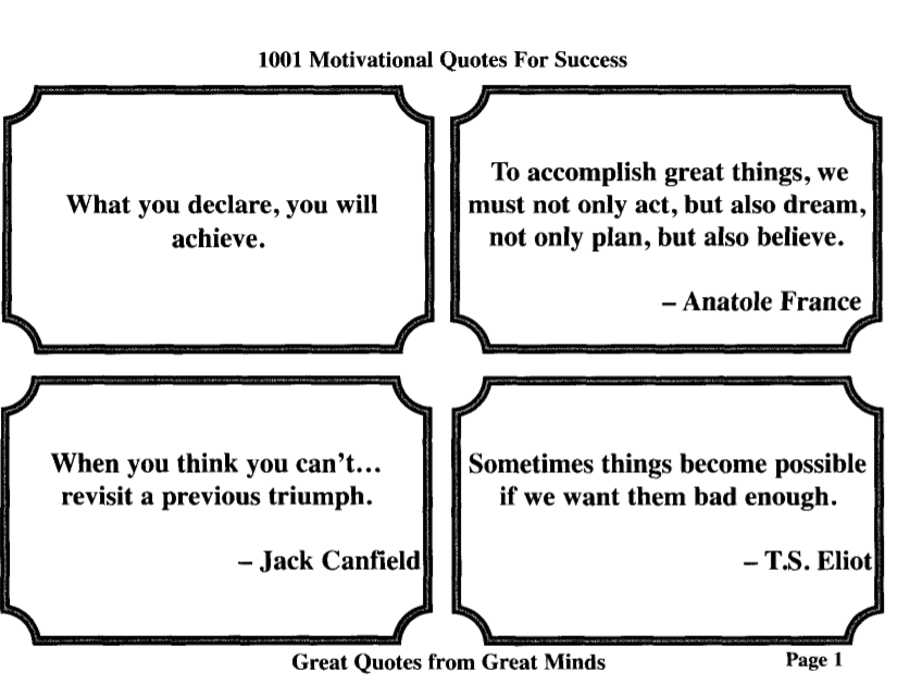 1001 Motivational Quotes for Success